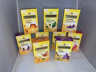 Twinings fruit and herbal varieties tea bags - packaged flat - FREE UK P&P