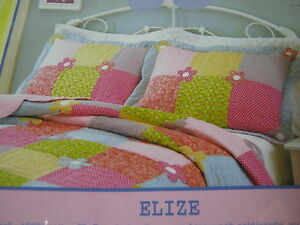 NEW-Thats-Mine-Standard-Handcrafted-Quilt-Pillow-Sham-Elize-Flower-Floral-NIP