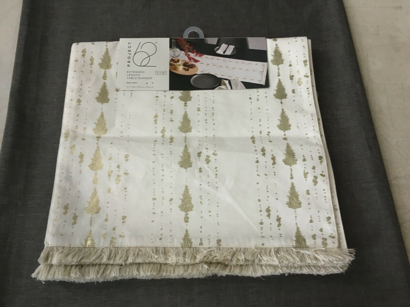 """Project 62 Extended Length Table Runner 14"""" x 108"""" 14"""" x 108"""
