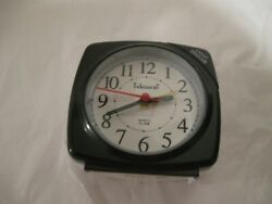 NEW Telesonic A0107 RED ALARM CLOCK Snooze Light Quiet Sweep 3 X 3 X 1.5 in
