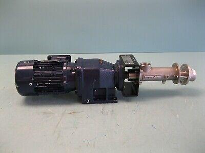 12 X 1 Seepex Md 0005-24 Progressive Cavity Pump 12 Hp Motor P3 2832