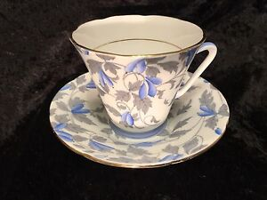 Royal Grafton - Ashley Blue Tea cup and saucer - Mint Condition!