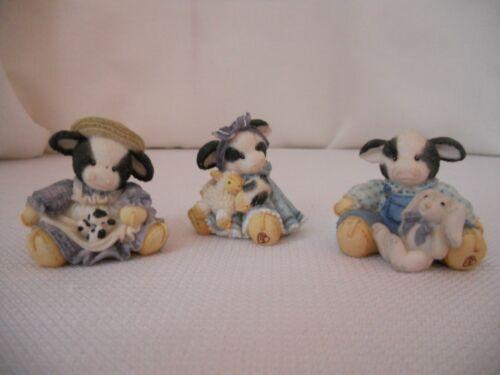 Mary Moo Moo Minature Figurines Set of 3