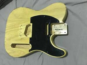 Telecaster guitar body nitrocellulose butterscotch finish