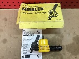 Turner steel sheet nibbler cutter shears attachment made in the UK