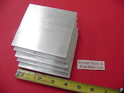 5 Pieces 38 X 4 Aluminum 6061 Flat Bar 4 Long T6511 .375 Plate Mill Stock