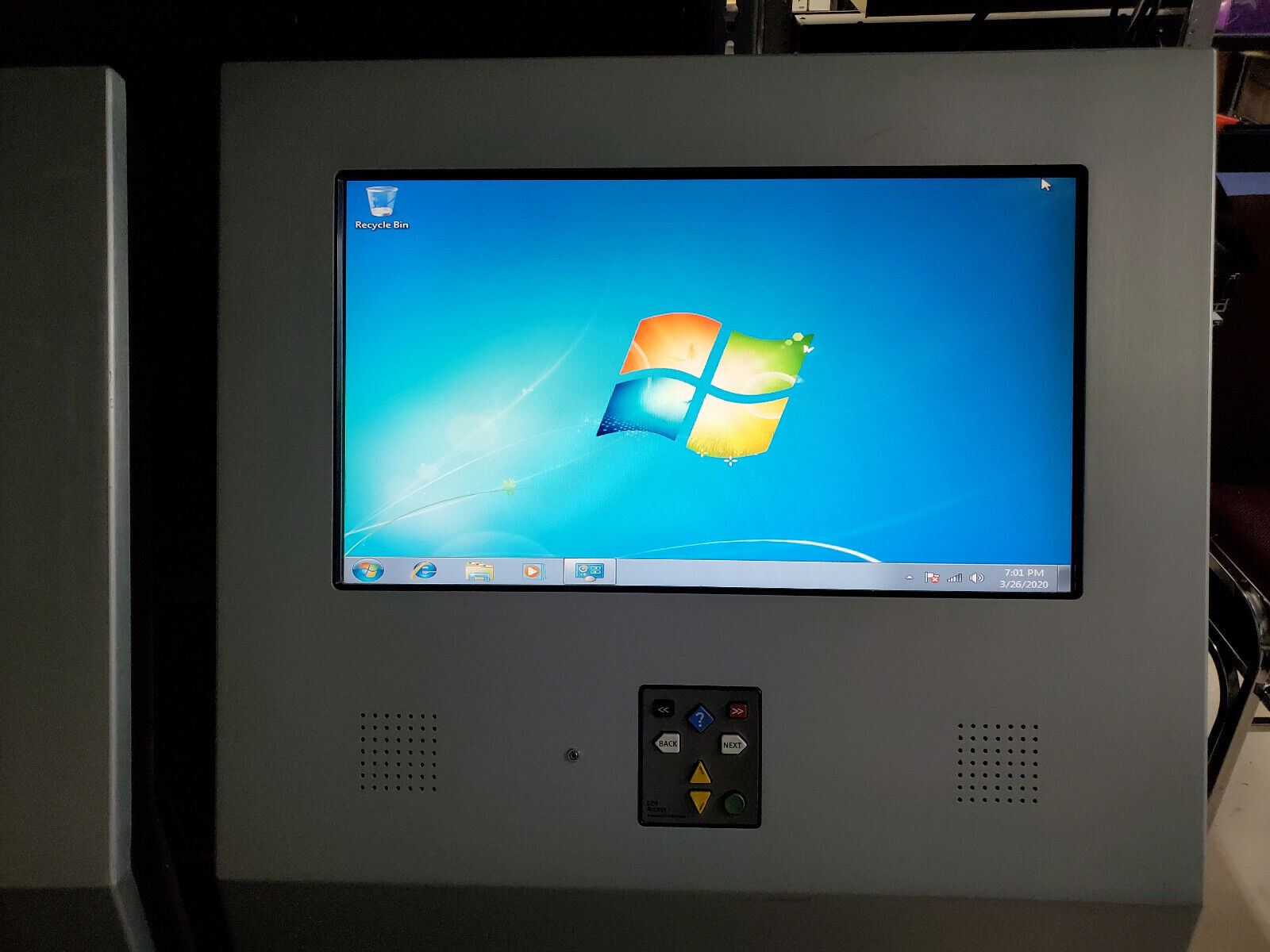 ADA compliant 26 Touch Screen Custom Stainless kiosk free standing wcompuer
