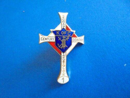 Vintage Knights of Columbus Newman Apostolate Century Donor 1 Lapel Pin Pinback
