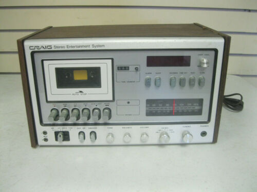 VINTAGE Craig Model A 2000 AM/FM Stereo Cassette Player