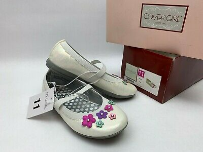 Toddler Girls' Covergirl Kirsten Floral Ballet Flats in White Size 11 - NEW - Cover Girl Schuh