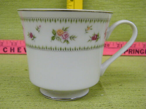 Lot of 3 Abingdon Fine Porcelain China Coffee Tea Cup Pink Roses