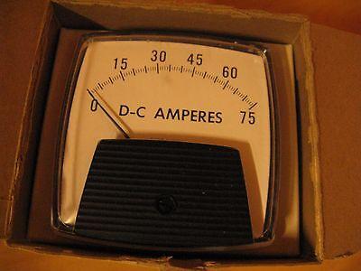 Nib General Electric Panel Meter Dc Amperes