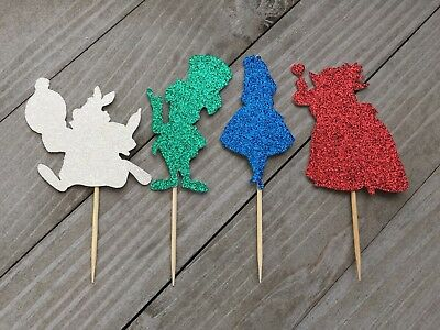 Alice In Wonderland Cupcake Toppers, Wonderland Party Decor, Disney Party](Disney Alice In Wonderland Party Supplies)