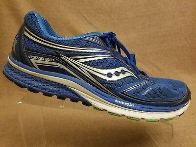 Saucony Guide 9 Everun Flex Film Men Blue Sport Athletic Running Shoes Size 12.5