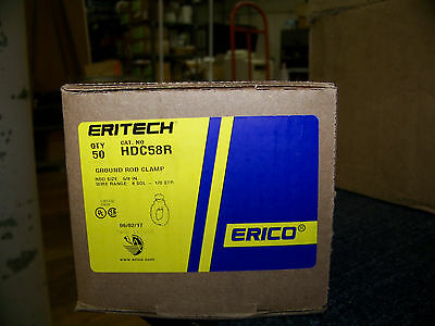 Erico Ground Rod Clamp Rod To Conductor Bronze 58 50 Ea. Cat. No. Hdc58r