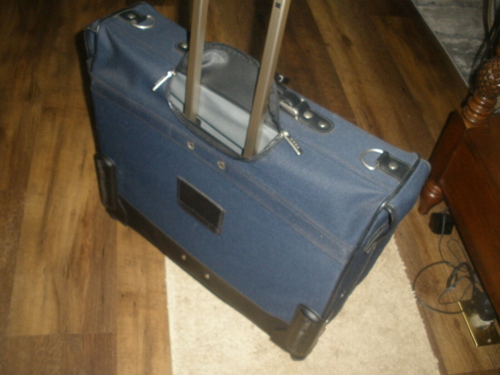 Folding Garment Bag Luggage Carry On Suitcase Travel Wheels Clothing Suits Dress - $45.00