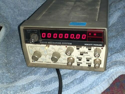 HP 5300B/5308A FREQUENCY COUNTER/TIMER 75 Mhz MEASURING SYSTEM