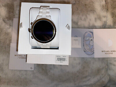 Michael Kors MKT5050 Access Runway Ceramic White Smart Watch Touchscreen New