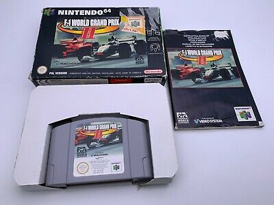 Nintendo 64 F-1 World Grand Prix 2 N64 Boîte & Manuel Inclus Pal