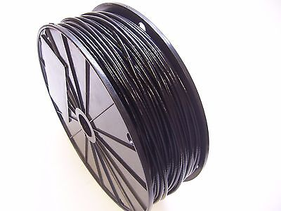 Black Vinyl Coated Wire Rope Cable 332 - 18 7x7 250 Ft Reel