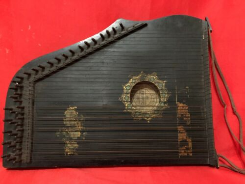 ANTIQUE COLUMBIA ZITHER GERMAN AMERICAN INSTRUMENT GUITAR ZITHER UNION
