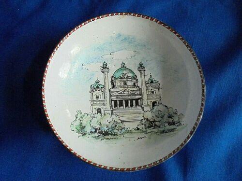 Vintage Karlskirche (St Charles's Church) Vienna Austria Enamel Souvenir Dish