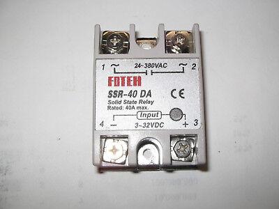 Solid State Relay Module 3-32v Dc Input 24-380vac Ssr-40da 40a