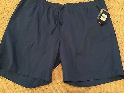 """Chaps Men Crayon Blue Chino Pull-On Shorts Size Large, 8"""" Inseam, Blue Color,"""