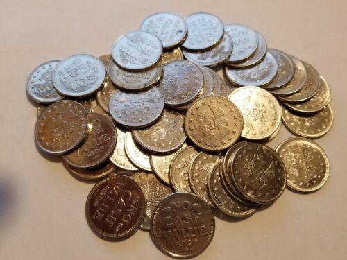 Lot of 50 No Cash Value Eagle Tokens - Silver Tone 0.984