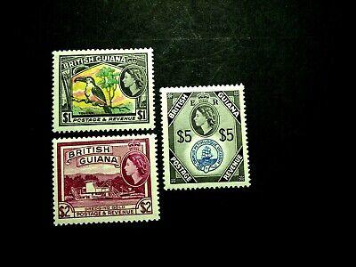BRITISH GUIANA SCOTT# 253-267 NEVER HINGED ORIGINAL GUM CATALOG VALUE $124.05