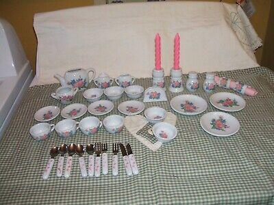 CHILDS 37 PIECE PORCELAIN FLORAL TEA SET KEYWICK