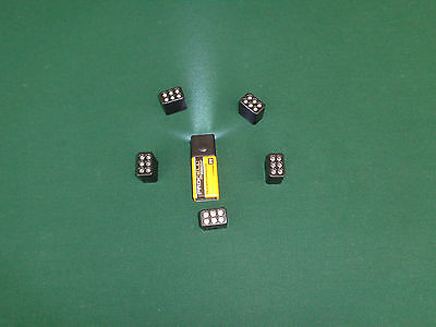 Five  5   Push Button 9 V Led Flashlight Heads Tops Only No Batteries
