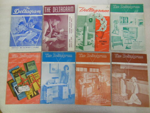 vtg THE DELTAGRAM - do it yourself Projects Handbook - Lot of 8 - all from 1940s