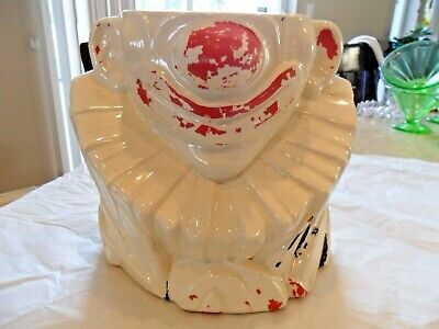 Cheap Clown (POOR LONELY McCOY POTTERY CLOWN COOKIE JAR BOTTOM LOOKING FOR HIS TOP-CHEAP!)