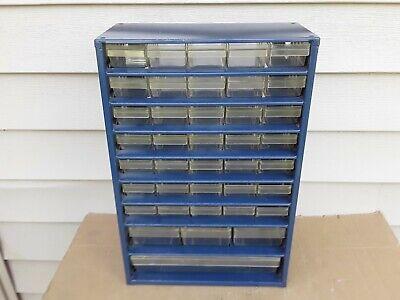 Vintage Metal Various Size 39 Drawer Nutbolt Small Parts Storage Cabinet