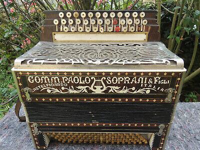 Italia Acordeon 80 Bass Comm Paolo Soprani Castelfidardo Beautiful Rare Restored