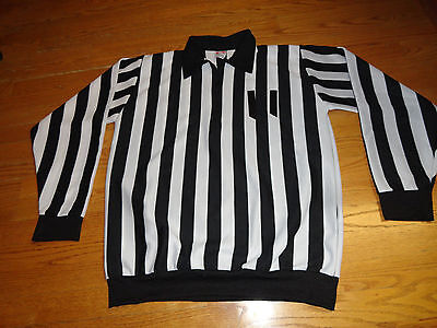 Mens L Referree Shirt CCM Official Hockey Soccer Sports Jersey Halloween Costume