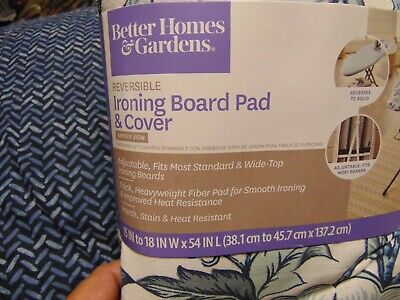 NEW Better Homes & Gardens  Ironing Board Cover with Pad, Blue/White