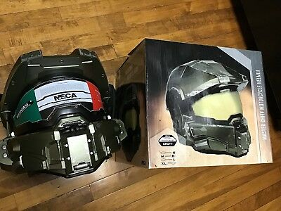 NEW Halo Neca Master Chief Motorcycle Helmet Medium Size (57-58cm) DOT certified - Halo Master Chief Costumes