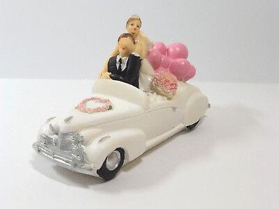 Hochzeitspaar Brautpaar im Auto 15cm Tortenfigur Hochzeit Tischdekoration (Autos Tischdekoration)