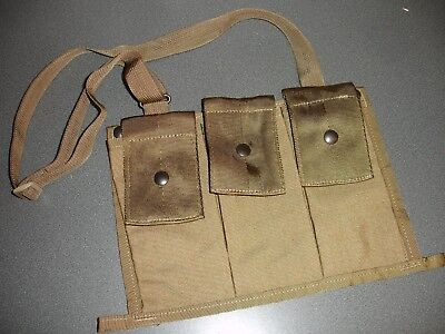 NEW COYOTE CAMO BANDOLEER, 6 MAG GENUINE USA MADE POUCH EMPTY 6 Mag Pouch