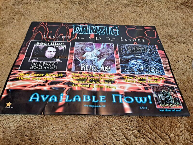 DANZIG Rare Instore PROMO POSTER for Reissue CD