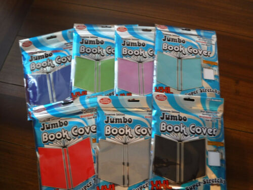 Stretchable  Jumbo Book Covers  YOUR CHOICE of HOW MANY  & COLORS ~NEW  READ