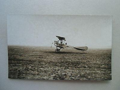 Original-Fotografie Flieger Flugzeug Luftfahrt Doppeldecker Pilot um 1910