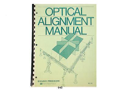 Keuffel Esser Optical Alignment Manual Cubic Precision K E  940