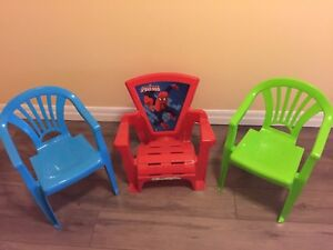 3 Toddler chairs
