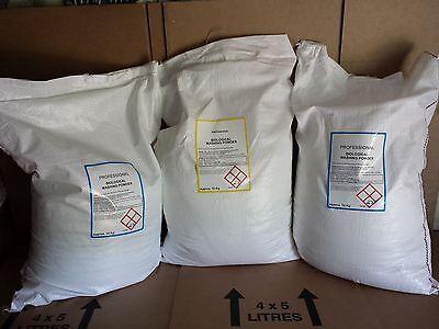 3 x Approx 10 kg Professional Biological Washing Powder 225+ wash Laundry Powder