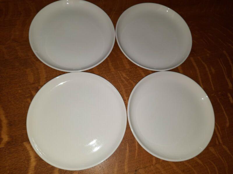 Set of 4 Vintage Russel Wright Dessert Plates, White