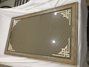 Marbled Frame with smoked glass for sign or mirror