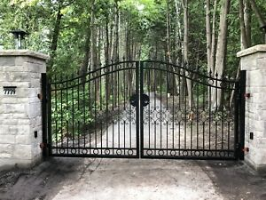 Wrought Iron Driveway Gates by Cougar Iron